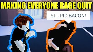 BACON HAIR MAKES the ENTIRE SERVER RAGE QUIT Roblox Jailbreak