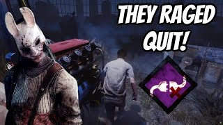 I Made Someone RAGE QUIT!! - Dead By Daylight