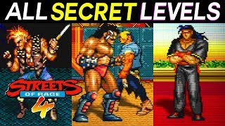 Streets of Rage 4 - ALL SECRET LEVELS / How to Unlock All Secret Stages - Easter Eggs Bosses